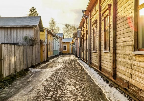 Romping Through Old Rauma in Finland