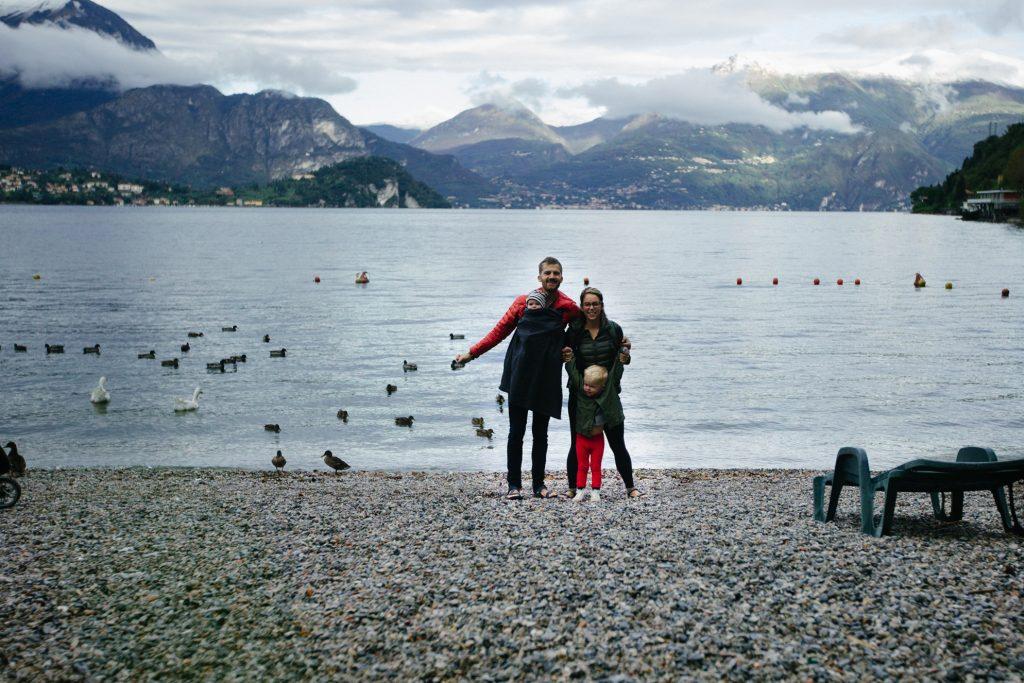 family travel lake mountains