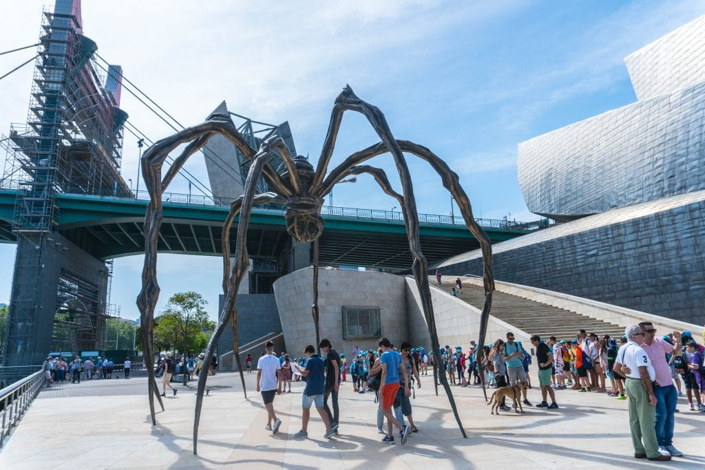 Spider sculpture at Guggenheim Bilbao.
