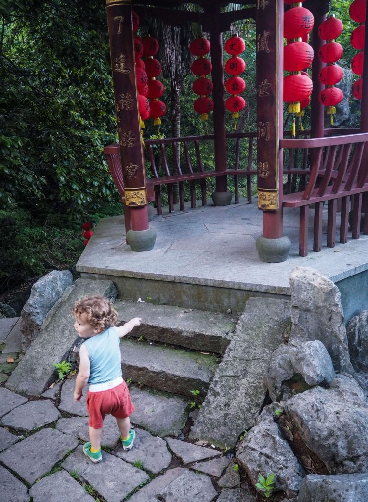 Lingyin Temple Hangzhou with kids
