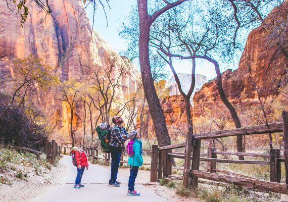 Easy Zion Hikes, History and a Scenic Shuttle Ride