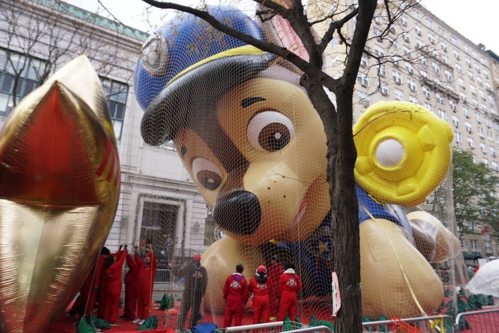 Things to do in NYC with Kids: Balloon Inflation for Macy's Thanksgiving Day Parade