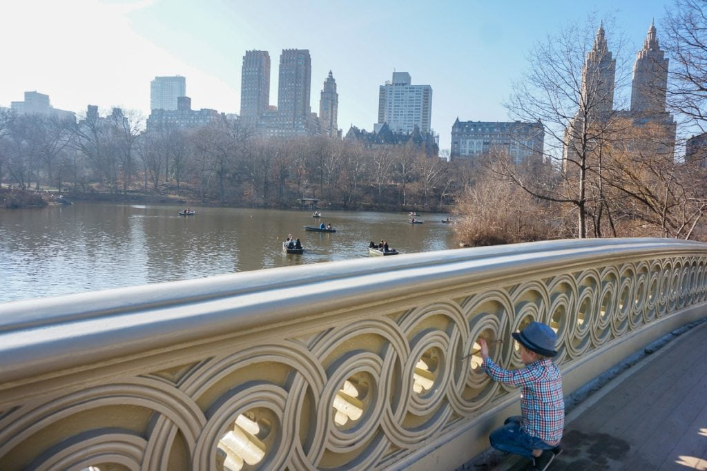Things to do in NYC with Kids: Central Park Bow Bridge