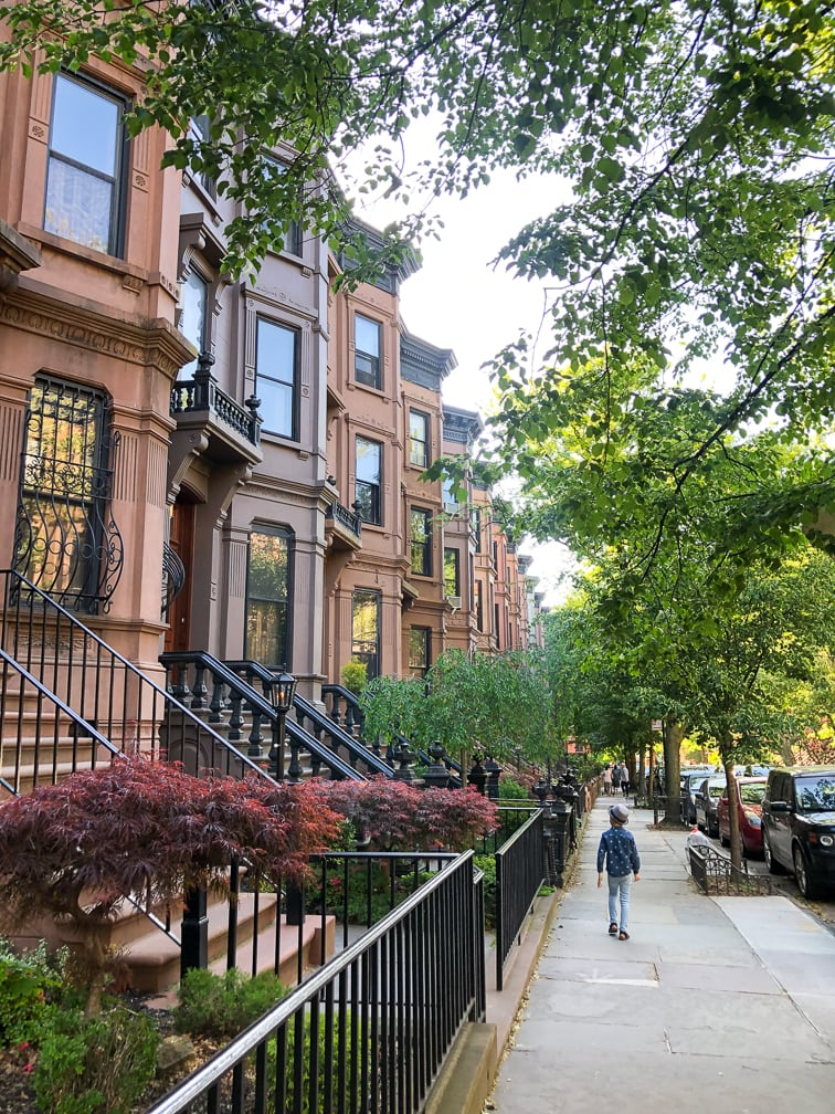 Things to do in NYC with kids: Walking in Park Slope Brooklyn