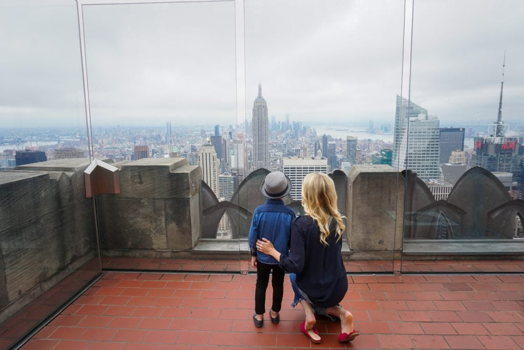 Things to do in NYC with Kids: View from Rockerfeller Center