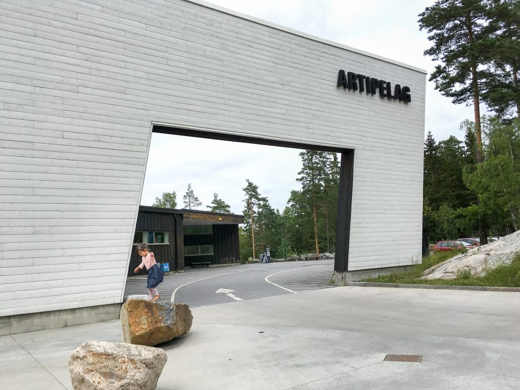 Things to do in Stockholm with kids: Girl at Artipelag entrance