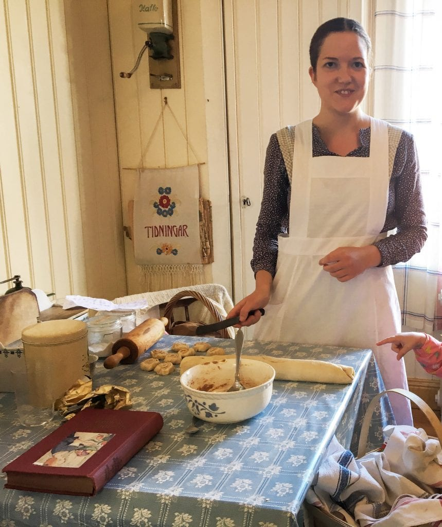 Things to do in Stockholm with kids: Skansen BakingDemo